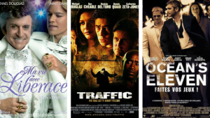 Affiches des films : Ma vie avec Liberace - Traffic - Ocean's Eleven. #stevensoderbergh #cinema #film #movie