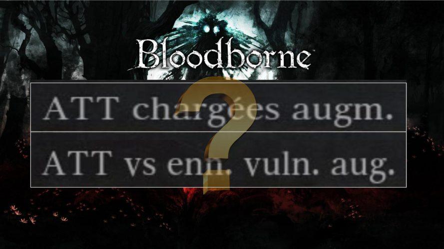 """Bloodborne : comment fonctionnent exactement les effets des bonus secondaires """"attaques chargées augmentées"""" et """"attaques VS ennemis vulnérables"""" ? #bloodborne #fromsoftware #secondarybonuses #bonussecondaires"""