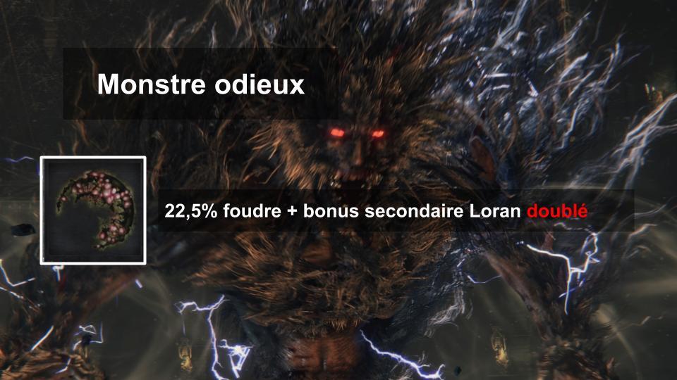 Suivant son bonus secondaire, la gemme de foudre du Monstre Odieux peut être la meilleure du jeu