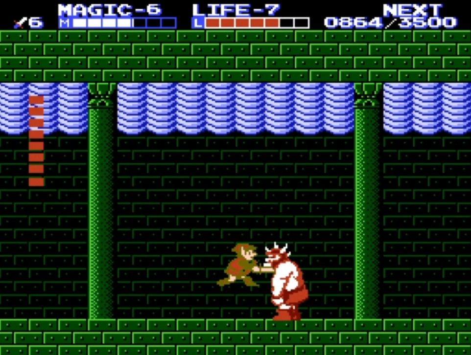 Link face au boss du 5ème palais #GuiDaFunkyMan #zelda2 #ZeldaTheAdventureOfLink #NES #Nintendo #retrogaming #retrogamer #retrogames #ZeldaRetro