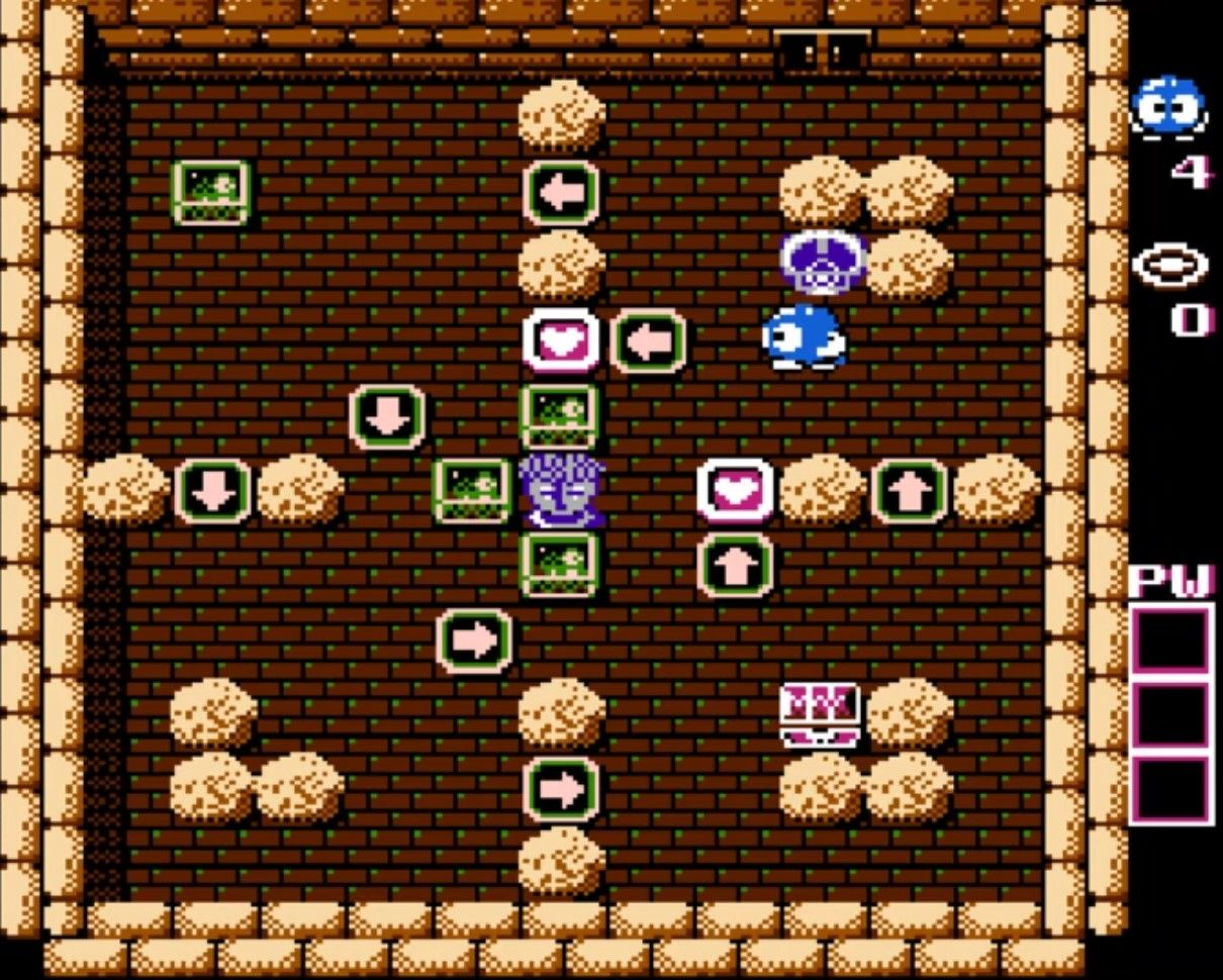 Lolo face à une énigme retorse #NES #Retrogaming #retrogames #Nintendo #HalLaboratory #letsplayFR #GuiDaFunkyMan