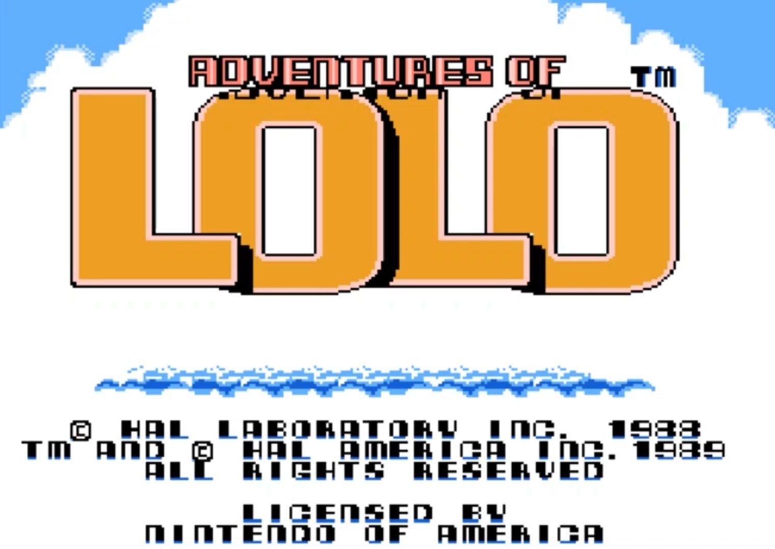 Ecran d'accueil de Adventures Of Lolo sur Nintendo NES #NES #Retrogaming #retrogames #Nintendo #HalLaboratory #letsplayFR #GuiDaFunkyMan