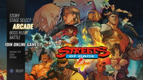 Streets Of Rage 4 propose plusieurs modes de jeu. Voici l'écran principal qui les présente. #GuiDaFunkyMan #StreetsOfRage4 #SoR4 #retrogaming #retrogamer #SEGA #LetsPlayFR #StreetsOfRage