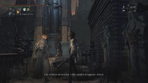 La quête d'Alfred dans Bloodborne commence avec la 1ère rencontre avec ce PNJ, au Faubourg de la Cathédrale #GuiDaFunkyMan #Bloodborne #BloodborneQueteAlfred #BloodborneAlfred #FromSoftware #RuneRadiance