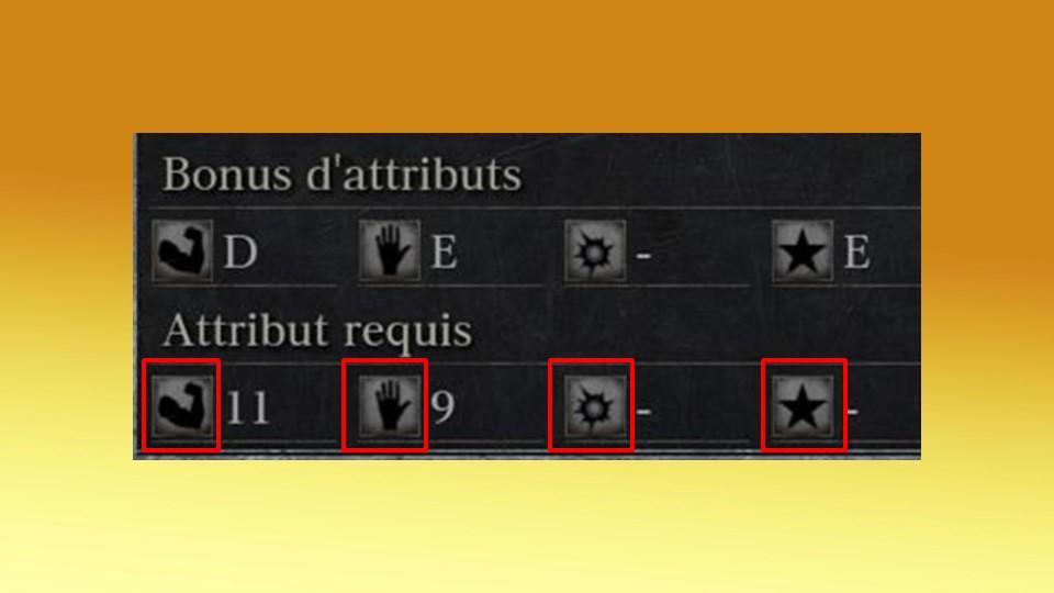 Dans Bloodborne, tout comme dans les Souls, les attributs requis vous indiquent si votre build peut manier ou non certaines armes.